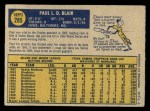 1970 O-Pee-Chee #285  Paul Blair  Back Thumbnail