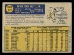 1970 O-Pee-Chee #372  Dave Giusti  Back Thumbnail