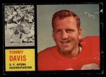1962 Topps #158  Tommy Davis  Front Thumbnail