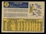 1970 O-Pee-Chee #327  Hal King  Back Thumbnail