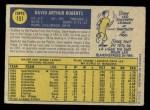 1970 O-Pee-Chee #151  Dave Roberts  Back Thumbnail