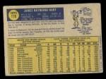 1970 O-Pee-Chee #176  Jim Ray Hart  Back Thumbnail