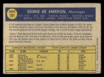 1970 O-Pee-Chee #181  Sparky Anderson  Back Thumbnail