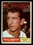 1961 Topps #89  Billy Martin  Front Thumbnail