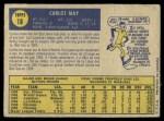 1970 O-Pee-Chee #18  Carlos May  Back Thumbnail