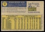 1970 O-Pee-Chee #40  Rich Allen  Back Thumbnail