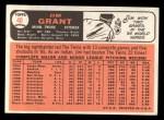 1966 Topps #40  Mudcat Grant  Back Thumbnail