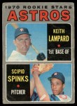 1970 O-Pee-Chee #492   -  Keith Lampard / Scipio Spinks Astros Rookies Front Thumbnail