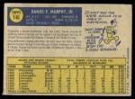 1970 O-Pee-Chee #146  Danny Murphy  Back Thumbnail