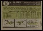 1961 Topps #62 COR Al Pilarcik  Back Thumbnail