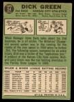 1967 Topps #54  Dick Green  Back Thumbnail