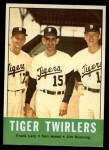 1963 Topps #218   -  Frank Lary / Don Mossi / Jim Bunning Tiger Twirlers Front Thumbnail