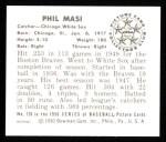 1950 Bowman REPRINT #128  Phil Masi  Back Thumbnail