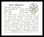 1950 Bowman REPRINT #115  Roy Smalley  Back Thumbnail