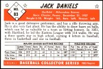 1953 Bowman REPRINT #83  Jack Dittmer  Back Thumbnail