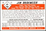 1953 Bowman REPRINT #136  Jim Brideweser  Back Thumbnail