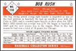 1953 Bowman Reprints #110  Bob Rush  Back Thumbnail