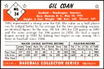 1953 Bowman REPRINT #34  Gil Coan  Back Thumbnail