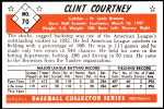1953 Bowman REPRINT #70  Clint Courtney  Back Thumbnail