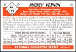 1953 Bowman Reprints #159  Mickey Vernon  Back Thumbnail