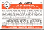 1953 Bowman REPRINT #151  Joe Adcock  Back Thumbnail