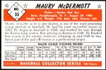 1953 Bowman REPRINT #35  Mickey McDermott  Back Thumbnail