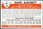 1953 Bowman Reprints #35  Mickey McDermott  Back Thumbnail