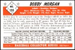 1953 Bowman REPRINT #135  Bob Morgan  Back Thumbnail