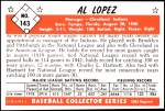 1953 Bowman REPRINT #143  Al Lopez  Back Thumbnail