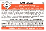 1953 Bowman REPRINT #137  Sam Dente  Back Thumbnail