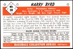 1953 Bowman REPRINT #38  Harry Byrd  Back Thumbnail