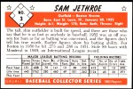 1953 Bowman Reprints #3  Sam Jethroe  Back Thumbnail