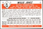 1953 Bowman REPRINT #133  Willie Jones  Back Thumbnail