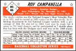 1953 Bowman REPRINT #46  Roy Campanella  Back Thumbnail