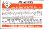 1953 Bowman REPRINT #90  Joe Nuxhall  Back Thumbnail