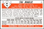 1953 Bowman Reprints #96  Sal Maglie  Back Thumbnail