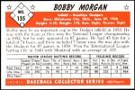 1953 Bowman REPRINT #135  Bob Morgan  Back Thumbnail