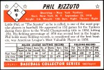 1953 Bowman REPRINT #9  Phil Rizzuto  Back Thumbnail