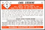 1953 Bowman REPRINT #12  Carl Erskine  Back Thumbnail