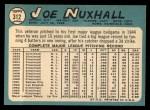 1965 Topps #312  Joe Nuxhall  Back Thumbnail