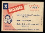 1959 Fleer Three Stooges #51   Be Careful this is My Only Back Thumbnail