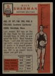 1957 Topps #5  Bill Sharman  Back Thumbnail