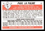 1953 Bowman B&W Reprint #19  Paul LaPalme  Back Thumbnail