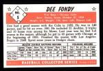 1953 Bowman B&W Reprint #5  Dee Fondy  Back Thumbnail
