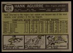 1961 Topps #324  Hank Aguirre  Back Thumbnail