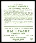 1933 Goudey Reprint #183  Rube Walberg  Back Thumbnail