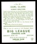 1933 Goudey Reprint #57  Earl Clark  Back Thumbnail
