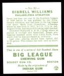 1933 Goudey Reprint #82  Dib Williams  Back Thumbnail