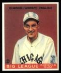 1933 Goudey Reprint #135  Woody English  Front Thumbnail