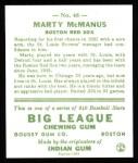 1933 Goudey Reprint #48  Marty McManus  Back Thumbnail